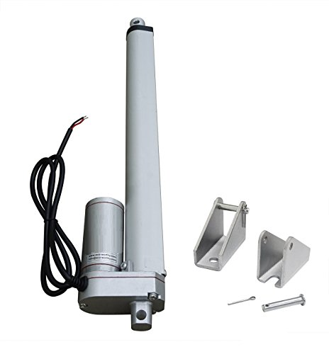 ECO-WORTHY 12 Inch Linear Actuator 12'' Stroke DC 12V Heavy Duty 330 Pounds Lbs Maximum Lift with Mounting Brackets