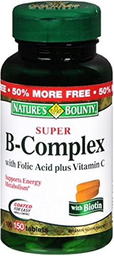 Nature's Bounty B-Complex with Folic Acid Plus Vitamin C, Tablets 150 ea