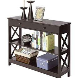 Convenience Concepts Oxford 1 Drawer Console Table, Espresso