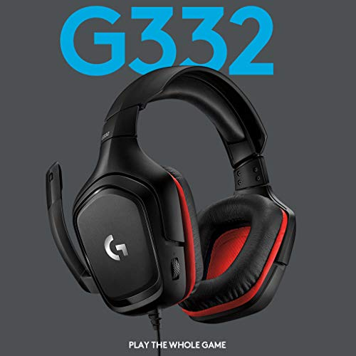 4196lVMr4HL - Logitech G332 Stereo Gaming Headset 6 mm Flip-to-Mute Mic for PlayStation 4, Xbox One and Nintendo Switch