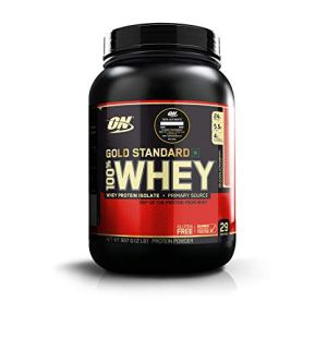 Optimum Nutrition (ON) Gold Standard 100% Whey Protein Powder – 2 lbs, 907 g (Delicious Strawberry)