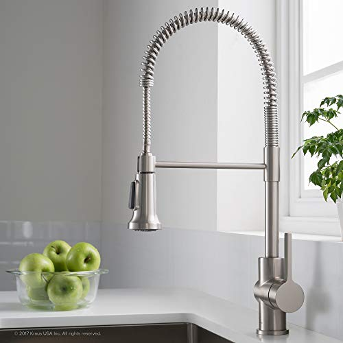 Kraus-KPF-1690SFS-Britt-Pre-RinseCommercial-Kitchen-Faucet-with-Dual-Function-Sprayhead-in-all-Brite-Finish-Spot-Free-Stainless-Steel