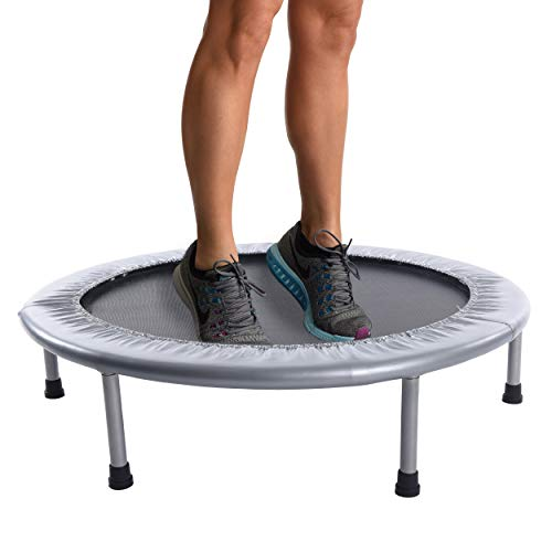 Stamina 36-Inch Folding Trampoline   Quiet and Safe Bounce   Access To Free Online Workouts Included   Supports Up To 250 Pounds