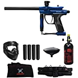 MAddog Spyder Fenix Beginner HPA Paintball Gun Package - Blue