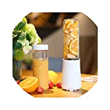 Portable Mini Juicers With 2 Bottles 3 Colors Mini Blenders Mixers Baby Food Jam Kitchen Aid,White,Us Plug