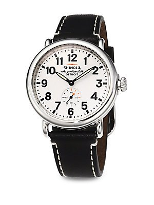 419Jb7I3wBL Express your profound fondness for crafsmanship and excellence when you wear the outstanding Shinola® Detroit Runwell watch. Polished stainless steel case. Adjustable black leather strap.