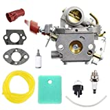 ANTO C1M-W44 Carburetor for Poulan PP133 PP333 Pro Gas Craftsman Trimmer 33cc Zama C1M-W44 Engines Carb with Boot Adapter Air Filter Kit