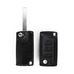 Coque-3-boutons-pliable-pour-cle-telecommande-Peugeot-207-307-407-308-607-FOB-case-flip
