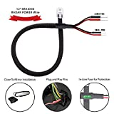 Radar Detector 12' Mirror Plug Wire Tap RJ11 Hardwire Power Cord Kit for Escort Valentine One Uniden Beltronics | Tap Existing Mirror Plug | Inline Fuse with Braided (Dual Size Pins)