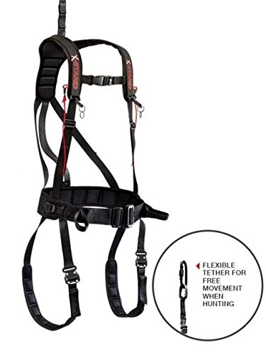 X-Stand Treestands The X-Factor Safety Harness The X-Factor Hunting Tree Stand Safety Harness, Black, Large