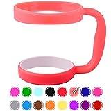 30oz Tumbler Handle (Coral) by STRATA CUPS - Available For 30oz YETI Tumbler, OZARK TRAIL Tumbler, Rambler Tumbler- BPA FREE