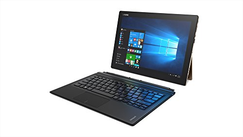 Lenovo IdeaPad Miix700-12ISK 80QL000BUS 12-Inch Full HD Laptop (Intel m7-6Y75 1.2 GHz Dual-Core Processor, 8GB RAM, 256GB SSD, Windows 10 Home 64-bit), Gold