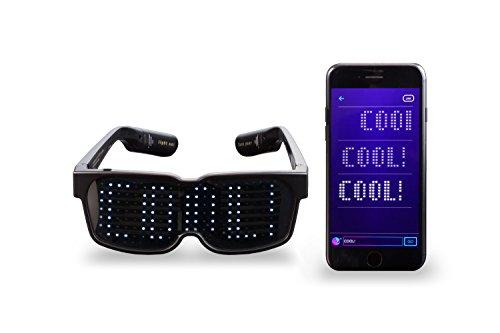 CHEMION – Occhiali LED Bluetooth Unici! – Messaggi sul display, Animazione, Disegni!