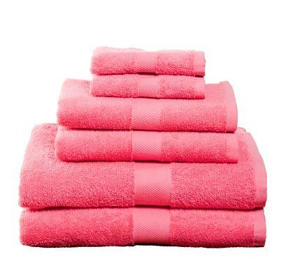 100% Soft Cotton – 6 Piece Towel Set (Pink)