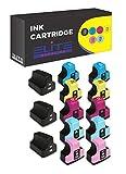 Elite Supplies Compatible Ink Cartridge Replacement for HP 02XL ( Black,Cyan,Magenta,Yellow,Light Cyan,Light Magenta , 13-Pack )