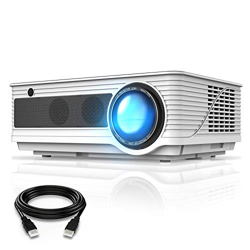 VIVIMAGE Cinemoon 580 Projector1080P Supported, 4000 Lux High Brightness Video Projector with 200' Projection Size Includes HDMI Cable