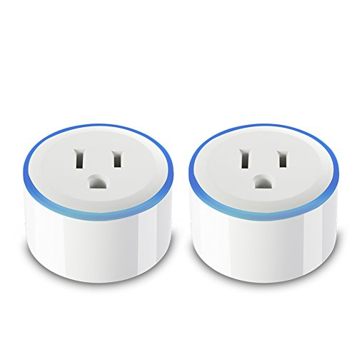 Smart Plug with RGB Night Light Ring, Compatible With Alexa & Google Home,  DAILYCOMB Smart Outlet, Wi-Fi Enabled, App and Voice Control Anywhere and