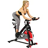 Sunny Health & Fitness 49 Lb Chromed Flywheel, Silent Belt Drive Indoor Cycle Bike with Leather Resistance Pad, 275 lb Max Weight - SF-B1002