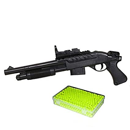 Lucid Toy Softgun with Complementary 1000 BB Bullets (6MM) (Made in India) Black