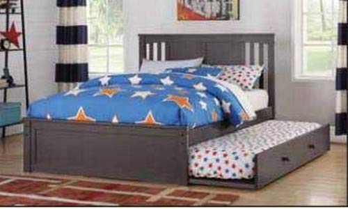 Donco Kids 3217-FSG_503-SG Princeton Trundle Bed, Full/Twin Slate Grey