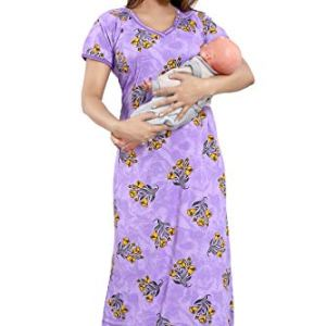 TUCUTE Women's Beautiful Print with Invisible Zip Feeding/Maternity/Nursing Nighty/Nightwear. 19  TUCUTE Women's Beautiful Print with Invisible Zip Feeding/Maternity/Nursing Nighty/Nightwear. 419c9ZInGGL