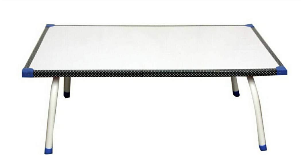 "Tanishka 16 x 24"" Bed Table Study Table Laptop Table Mica Finish Foldable (White)"