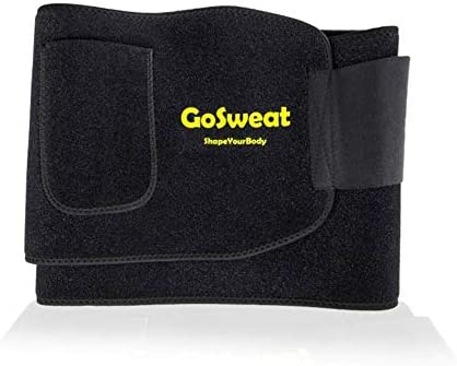 GoSweat Waist Sweat Trainer with Pocket, Plus Size Trimmer Belt for Women & Men, Slimming Band, Belly Wrap for Weight Loss, Stomach Fat Burner, Workout 8