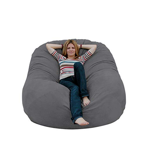 Cozy Sack 6-Feet Bean Bag Chair, Large, Grey