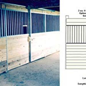 Country Manufacturing 12 ft Galvanized Horse Stall Front Kit with Feed Opening