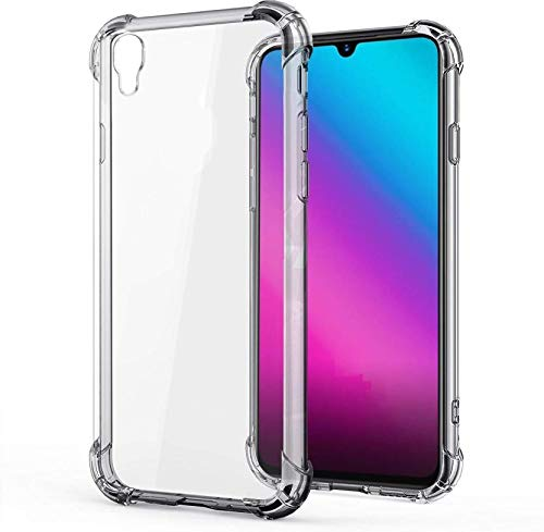 Prime Retail Dual Layer Bump Side Air Cushion Ultra Light Slim Shockproof Silicone Back Case Cover for Vivo Y90 - Transparent 1