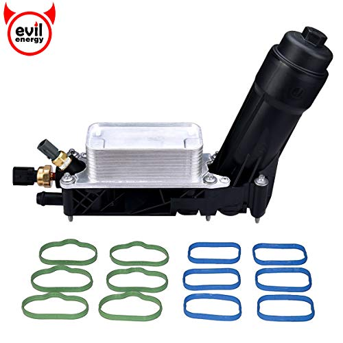 EVIL-ENERGY-Engine-Oil-Cooler-and-Filter-Housing-Adapter-gaskets-Sensor-Kit-Replace-5184294AE-Compatible-with-2011-2013-Chrysler-200300-Dodge-Journey-Jeep-Wrangler-Ram-36L-Aluminium-Silver