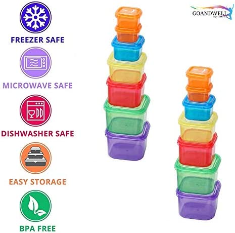 21 Days Containers and Food Plan - Portion Control Container Kit for Weight Loss - Portion Containers with Recipe - Double Set (14-Pieces) 4