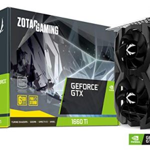 ZOTAC Gaming GeForce GTX 1660 Ti 6GB GDDR6 192-bit Gaming Graphics Card Super Compact – ZT-T16610F-10L