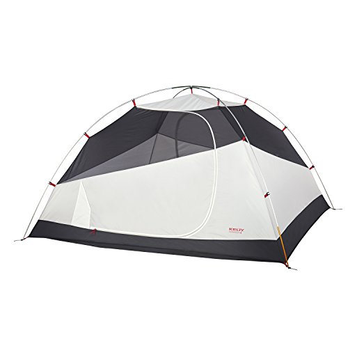 Kelty Gunnison 4 Person Backpacking and Camping Tent with Footprint, Grey