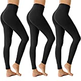 Womens High Waisted Leggings for Women-Tummy Control and Elastic Opaque Slim Pants-One/Plus Size 20+ Design (Black3,Plus Size (US 12-14))