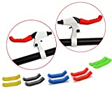 TOPCABIN A Pack of 5 Pairs Brake Handle Silicone Sleeve Mountain Road Bike Dead Fly Universal Type Brake Lever Protection Cover (Different Colors 5 Pairs)