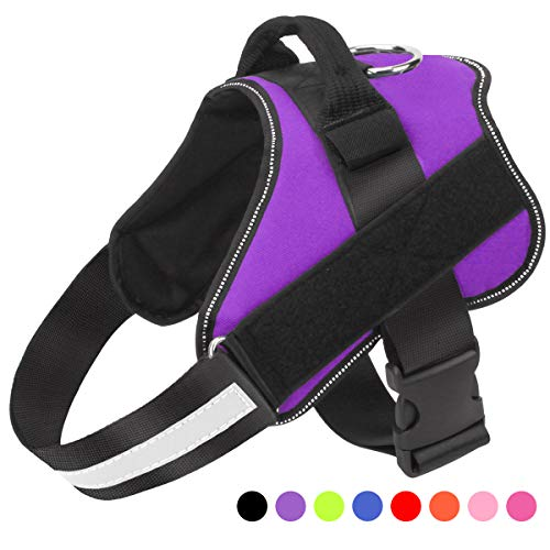 Bolux Dog Harness, No-Pull Reflective Breathable Adjustable Pet Vest with Handle...