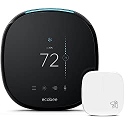 ecobee4 Smart Thermostat with Built-In Alexa, Room Sensor Included