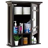 Best Choice Products Home Bathroom Vanity Mirror Wall Storage Cabinet, Espresso