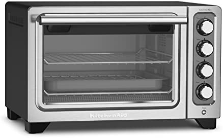 KitchenAid KCO253BM 12-Inch Compact Convection Countertop Oven – Black Matte