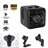 Mini Hidden Spy Camera Portable Small Full HD 1080P Wireless Cam with Night Vision and Motion Detection for Nanny/Housekeeper,Security Sports Action Camera for Home,Car,Office, Outdoor.