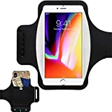 """New! Water Resistant Running Armband with Safety Reflective Strips for Phones up to 6.5"""" 