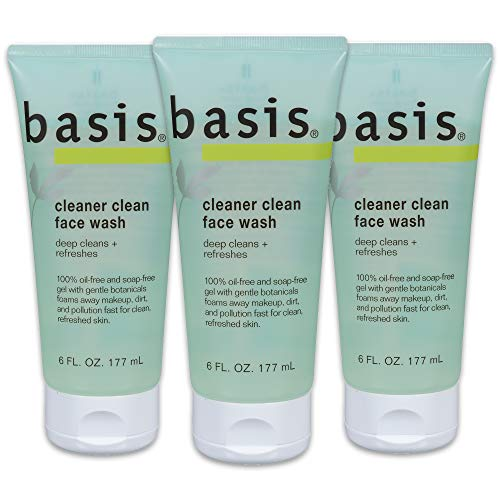 Basis Cleaner Clean Face Wash, 6 fl. oz. (Pack of 3)