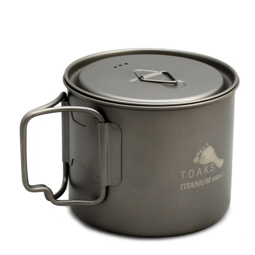 TOAKS LIGHT Titanium 550ml Pot (Ultralight Version)