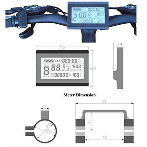 24V 36V 48V electric bike bicycle intelligent Control Panel LCD3 Display for E-bike