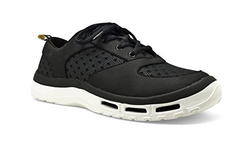 SoftScience The Fin 3.0 Men's Boating/Fishing Shoes - Black, Size 12