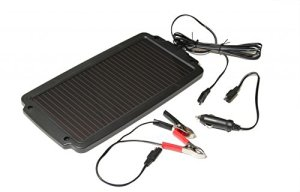 VSA Solar Battery Charger – 12V Ideal For Cars, Caravans, Tents And Boats