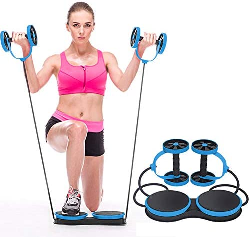 KAZOLEN Upgrade Ab Roller Wheel Multi-Functional Home Exercise Equipment Core Ab Workout Abdominal Wheel Machine Abs Exercise Fitness Trainer Ab Roller Home Gym Equipment… 3