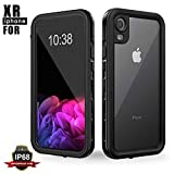 Waterproof Case for iPhone XR, Full Body Protective Transparent Cover for iPhone XR, Snowproof Dirtproof Shockproof Underwater Clear Case Cover (Black)