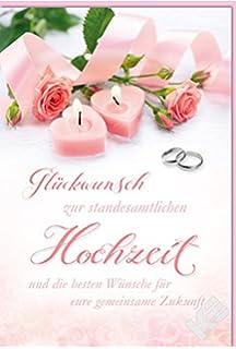 Hochzeitskarte Glückwünsche Zur Hochzeit 6 Stck Amazonde